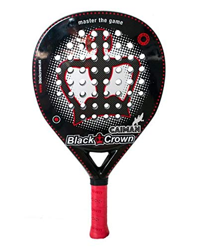 Black Crown Caiman - Pala de Padel, Adultos Unisex, Negro/Rojo, L