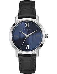 Guess - W0793G2 - Montre Homme - Quartz - Analogique - Bracelet cuir Bleu