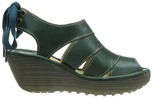 FLY London Yown, Ballerines Femme Vert (Petrol)