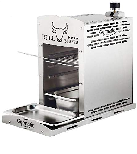 Mediablue Gasgrill Bull Burner aus Edelstahl: über 800° C für einzigartigen