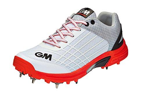 Gunn & Moore Men's Original Spike Cricket Shoes, Multicolour (Orange/White Orange/White), 8.5 UK 42.5 EU