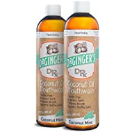 Doctor Ginger's Dr Ginger'S Coconut Oil Pulling & Whitening Mouthwash, Coconut Mint, 12 Oz, 2-Pack