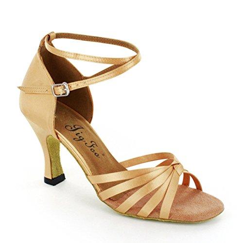 Latin Schuhe weichen Boden/Adult Schuhe mit hohen Absätzen/Lombardei Schuhe-A (Schuhe Lady Adult Jane)