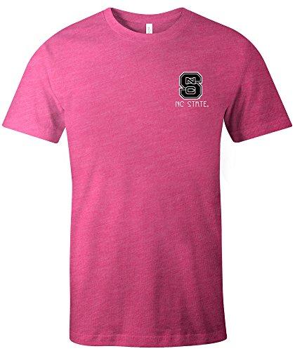 State University Square (Image One NCAA North Carolina State Wolfpack Aztec Square Kurzarm Triblend T-Shirt, Größe XL, beerenfarben)