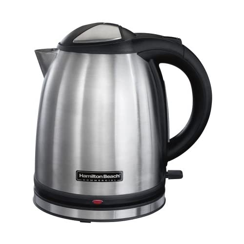 41kSoxN7uIL. SS500  - Hamilton Beach HKE100-UK Commercial Stainless Steel Electric Kettle, 1 Litre, 1400 Watt, Silver