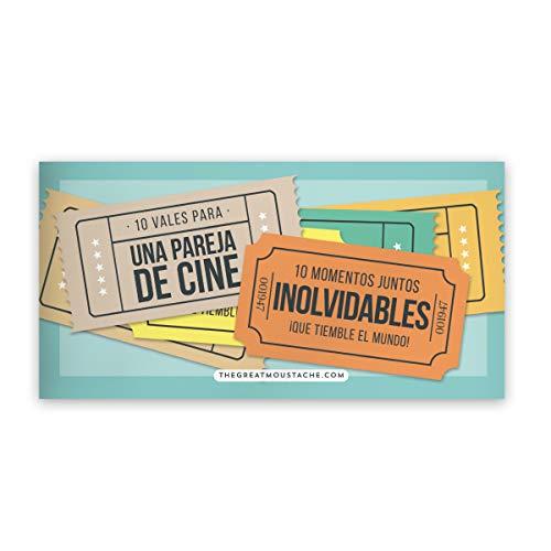 10 VALES PARA PAREJAS DE CINE (PACK DE VALES REGALO)