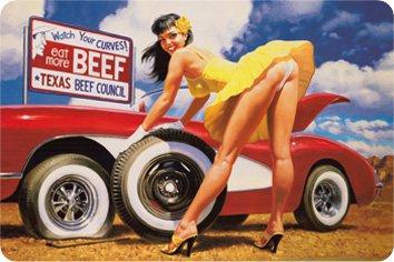 eat-more-beef-pin-up-corvette-plaque-metal-courbe-nouveau-20x30cm-vs2649