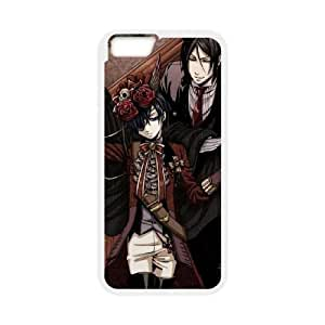 Black Butler iPhone 6 Plus 5.5 Inch Cell Phone Case White VC16GNG8