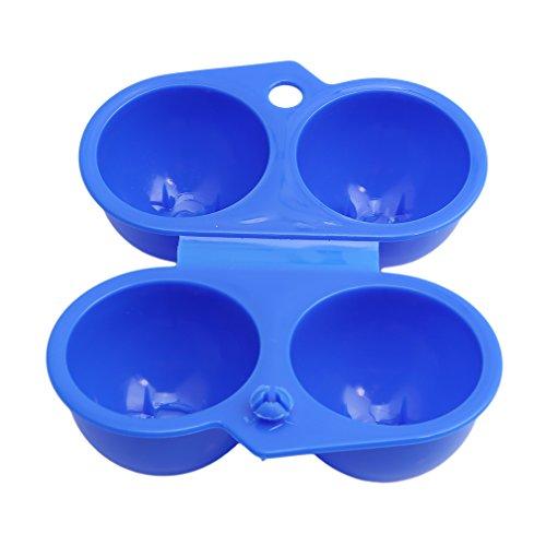 ODN Eier-Halter Picknick-Portable-Box Eierpflege Outdoor Eierbox 2 Eier Aufbewahrungsbox (Blau)