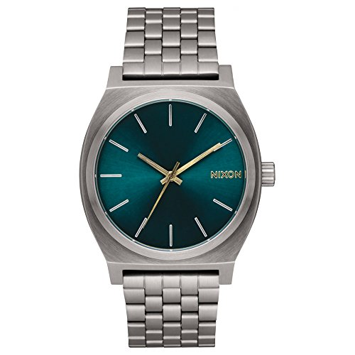 Reloj NIXON Time Teller Gunmetal Spruce Brass A0452789 Hombre