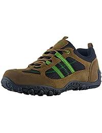 Knixmax Zapatillas Trekking de Verano para Hombre,Zapatos de Senderismo Calzado Trekking Escalada Ligeros Cómodos y Transpirables Zapatos Low-Top Antideslizante AL Aire Libre Zapatillas de Deporte