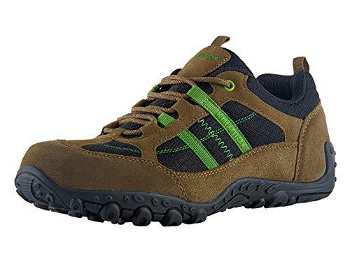 Knixmax Wanderschuhe Atmungsaktiv Trekking Schuhe Herren Damen Sports Outdoor Anti-Rutsch-Sohle Hiking Boots Man Woman Trekking-& Wanderhalbschuhe Sneaker EU 43-(UK 9) Braun - Womens Braun Leder