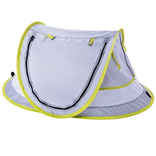 Sfit Tente de Plage en Plein Air Automatique Imperméable Pliante Anti UV pour Enfant Outdoor Plage Parc Exterieur 108X65X50cm