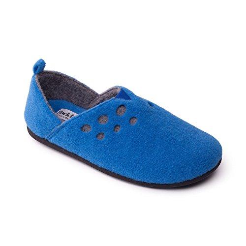 Padders donne sentivano scarpe 'Riva'   con sistema di regolazione a doppia larghezza   Extra Large Larghezza EE-SEE   15 millimetri tallone   calzascarpe libero blu denim