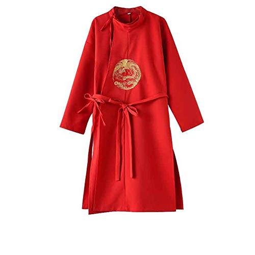 Chenyang86 Hanfu - Tang-Dynastie im chinesischen Stil (Farbe : Red, größe : 140cm)