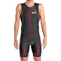 SLS3 Triathlon Einteiler Herren | FRT 2.0 Trisuit | 2 Taschen | Wettkampf Anzug | Front Reißverschluss | Schwarz