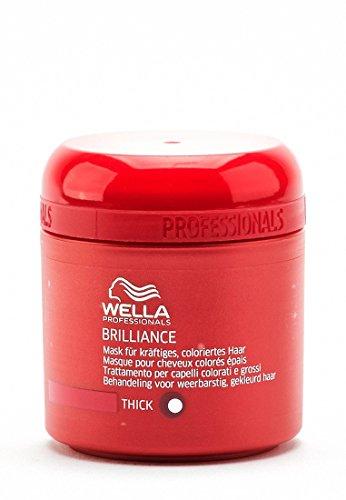 Wella Professionals Brilliance unisex, Mask für kräftiges, coloriertes Haar, 150 ml, 1er Pack, (1x 1 Stück) -