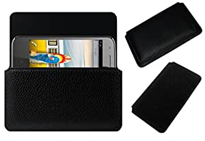 Acm Horizontal Leather Case For Micromax Bolt A089 Mobile Cover Carry Pouch Holder Black