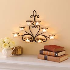 Nayab Handicrafts 8 Cup Wall Sconce and Diwali Candles for Decoration