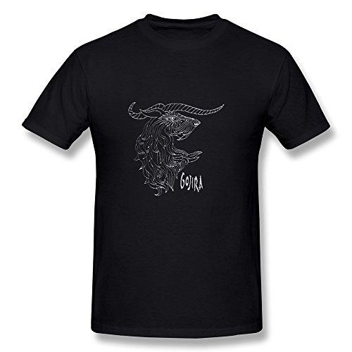 Uomo's Gojira Band Logo T-Shirt- Nero