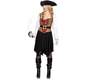 Fyasa 706397-t04pirata disfraz de mujer, tamaño grande