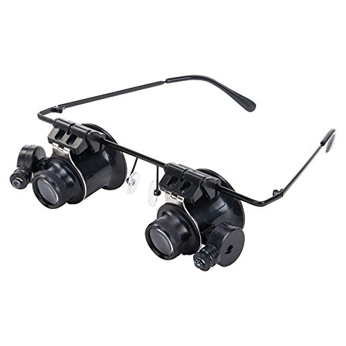 DWON [03 20 Mal Headwear Schmuck Identifikation Lupe mit LED-Lampe Binokular Mikroskop Brille Uhr...