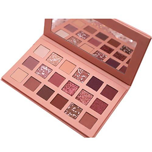 18 Farben Schimmer Matt Mineral Pigment Lidschatten Palette Nude Beauty Make up Modely (A)