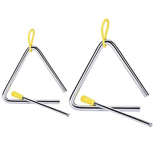 Lopbinte Set Von 2 Perkussion Musikinstrument Legierung Dreieckig Eckige Instrumente Mit Streichern