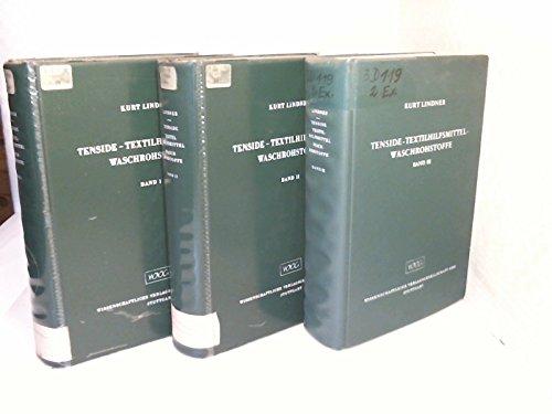 Tenside, Textilhilfsmittel, Waschrohstoffe III. Mit Ergänzung zu Bd. I/II