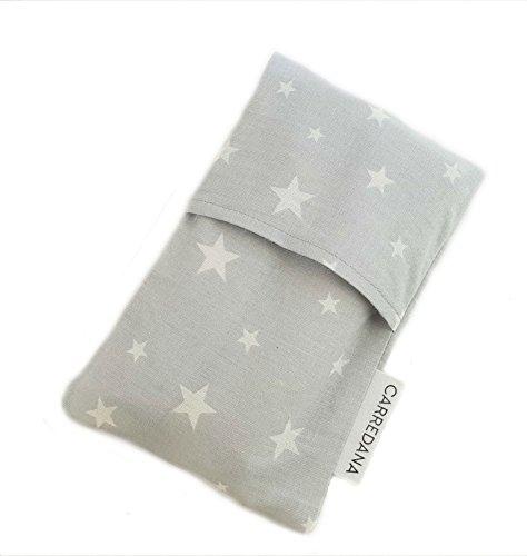 Saco térmico anti-cólicos bebé.Especial recién nacido 17 x 10cm (Gris estrellas)
