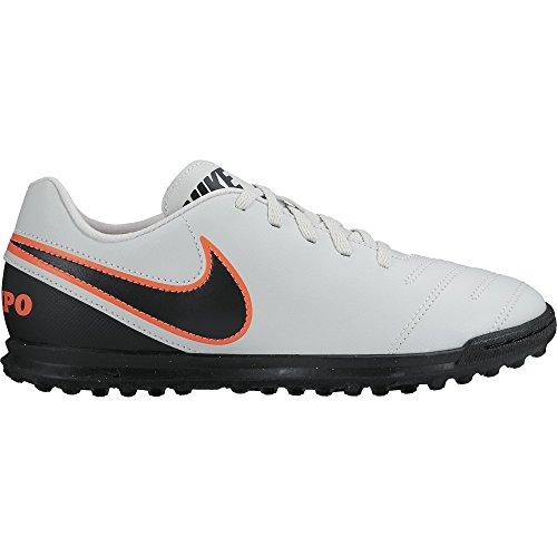 Nike Tiempo Rio Iii Tf, Chaussures de Football Compétition Mixte Enfant Blanc - Weiß (Pure Platinum/Black-Hypr Orng 001)