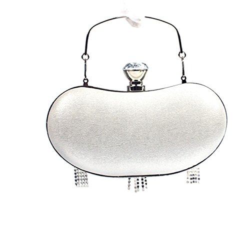 Donna Mano Pochette La Cena Partito Nappa Tenendo Borsa Da Sera Accessori Abito Silver