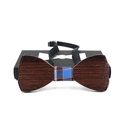 Meijunter Ajustable Clásico Hombres Tie Moda Corbata de moño Pajarita Tie Bowtie Bowtie Boda Corbata de moño Fiesta Regalo Madera #F02