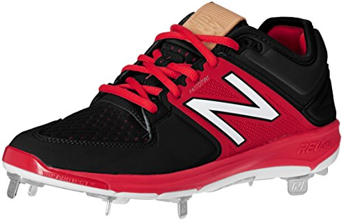 New Balance Men's L3000V3 Baseball Shoe, Royal/White, 10 2E US Black/Red