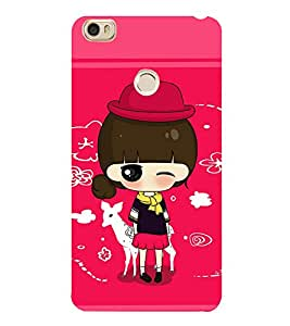 Girl with Red hat 3D Hard Polycarbonate Designer Back Case Cover for Xiaomi Mi Max