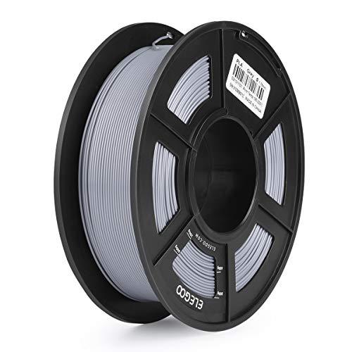 ELEGOO PLA Filamento de Impresora 3D, Precisión Dimensional +/- 0.03 mm, 1kg Carrete, 1.75mm-Gris