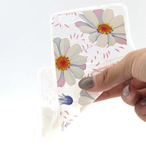 Voguecase® Per Apple iPhone 5C, Custodia fit ultra sottile Silicone Morbido Flessibile TPU Custodia Case Cover Protettivo Skin Caso (Lady 06) Con Stilo Penna Daisy 02