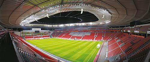 Leverkusen Stadion Panorama - Poster 120 x 50 cm - hochwertiger FineArtPrint -