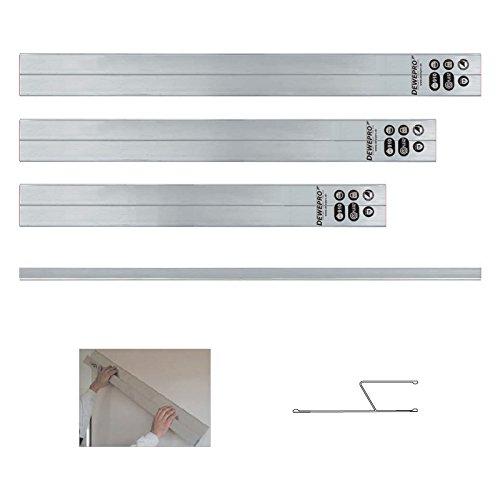 3 tlg. Set - DEWEPRO® H-Profil HA-Profil Aluminium Kartätsche - Abziehlatte - Richtscheit - Putzlatte - Längen: 100cm, 150cm und 200cm (1m, 1,5m und 2m)