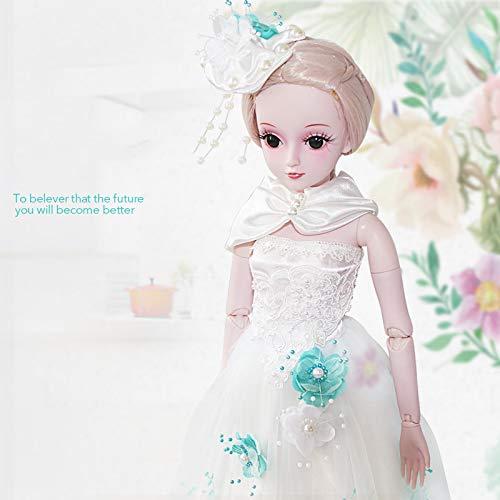 Handgemachte Realistische Reborn Babypuppen BJD/SD Nettes Mädchen Simulation Dressup Hochzeit Prinzessin Set Weihnachten Geburtstagsgeschenk Spielzeug 60Cm/23.6 Zoll ()