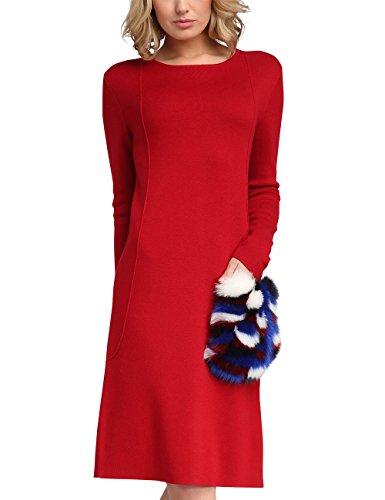 APART Fashion Damen Kleid 47703, Rot (Rot), 44