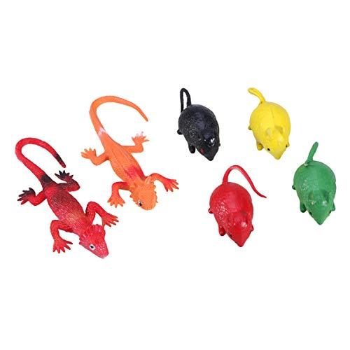 Kostüm Machen Käfer - TOYANDONA 40 Stück Kunststoff Eidechse Skorpion Hummer lebensechte Spinne Fake Spinnen Streiche Requisite Kunststoff Insekten Käfer Figuren Spielzeug (gemischtes Muster)