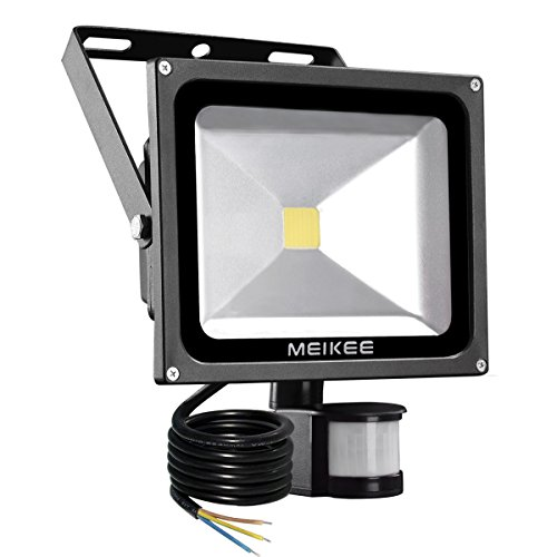 MEIKEE 20W LED Strahler Scheinwerfer fluter Licht Floodlight Außenstrahler Wandstrahler Schwarz Aluminium IP65 Wasserdicht AC 85 - 265V Tageslichtweiß