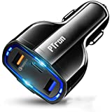 PTron Bullet Pro Qualcomm Certified Quick Charge 3.0, 36W Fast Charging, 3 Port USB Smart Car Charger, Compact, Lightweight, Durable PC Body Car Charger for All Smartphones & Tablets (Black)