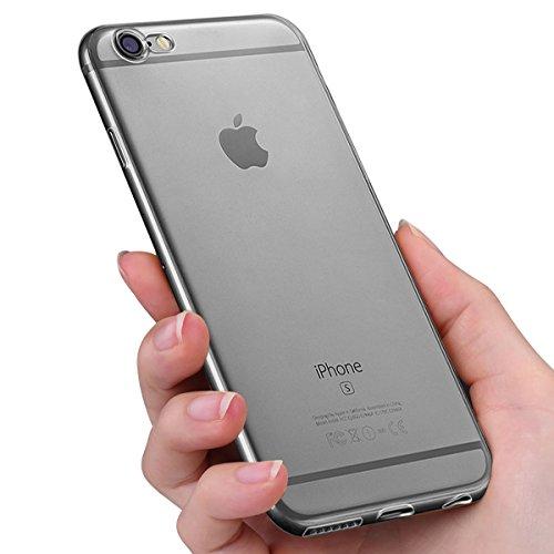 Funda iPhone 6, innislink Cover iPhone 6s Silicona Case TPU Bumper Anti-Golpes Caso Ultra Slim  Anti-Rasguño Cristal Original Protectora Carcasa para Apple iPhone 6 iPhone 6s - Transparente