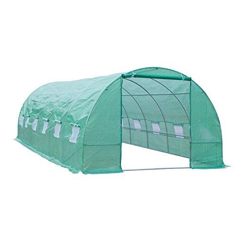 Outsunny Invernadero para Terraza o Jardín - Color Verde - Acero Polietileno - Dimensiones de...