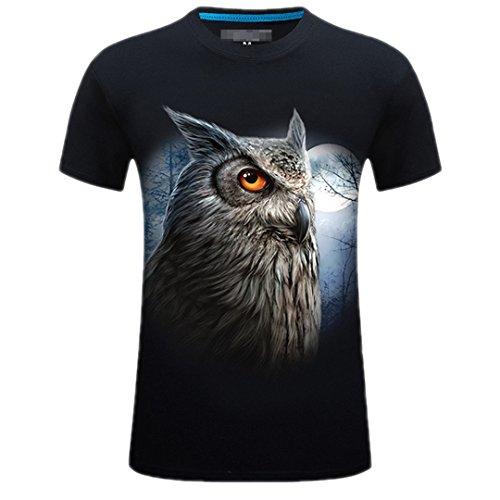 Shirt Feuer Kirin Short Sleeve T Herren Sommer T 3D Tiere Floral Bedrucktes Homme 5XL 6XL Hip Hop Streetwear T400 Schwarz 6 Asiatischen Gr??e S (T-shirt Short Feuer Sleeve)