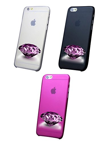 Cover IPHONE X 8- 8PLUS 6 - 6 PLUS - 6S - 6S plus - 7 - 7 plus - ROSE DIAMOND Trasparente VARI COLORI UltraSottili AntiGraffio Antiurto Case Custodia Bianco