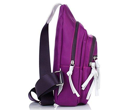 La version japonaise et coréenne de casual pack poitrine/Sac à dos de sport équestre/étudiants Femme épaule Messenger Bag-B C