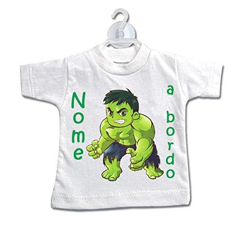 L\'Arcobaleno di Luci - Mini T-Shirt Bimbo A Bordo Con supereroi e Nome Bimbo O Bimba (05)